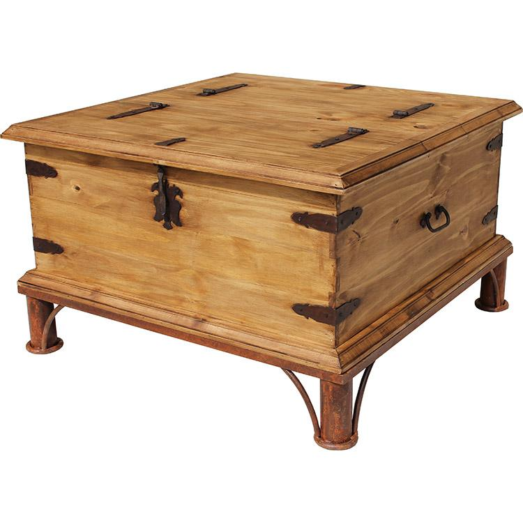 New Rustic Pine Collection - Trunk Coffee Tablew/ Base - CEN68 DV22