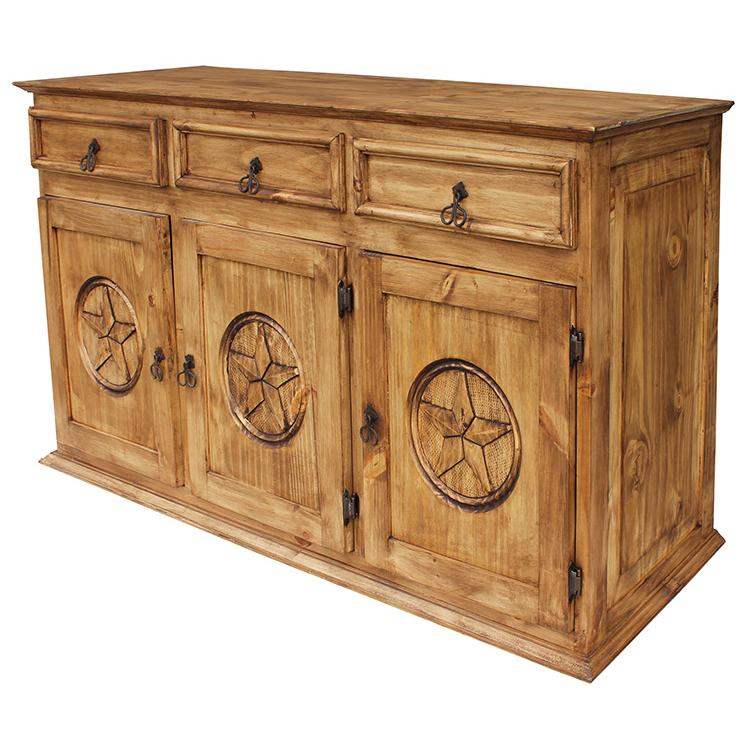 Rustic Pine Large Sideboard Product Photo