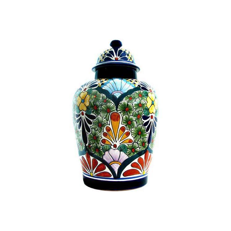 XL Talavera Ginger Jar - Buxom Shape