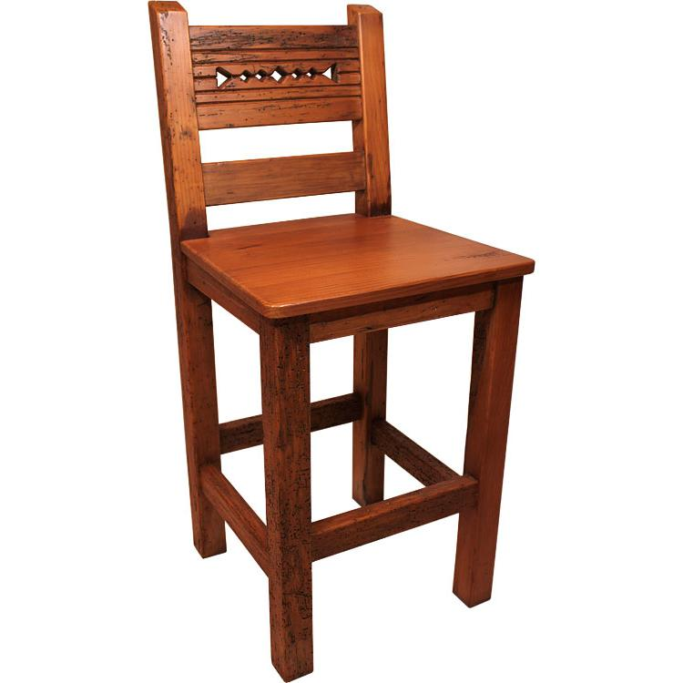 Rustic Tall Bar Stool Antique White Product Photo