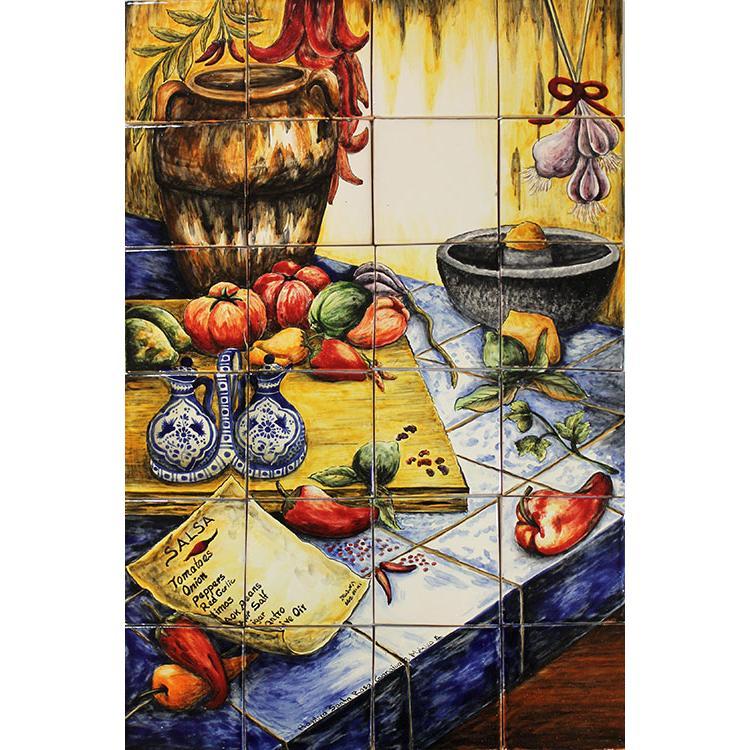 Fresh Salsa Majolica Tile Mural Product Photo