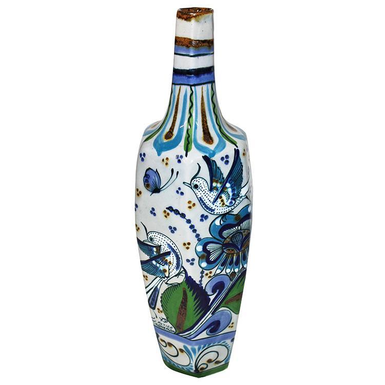 Decorative Pottery - Tonala Fino Hexagonal Vase - PAL15VS2