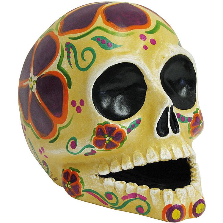 Large Skull w/ Painted Flowers