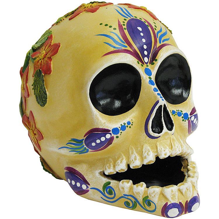 Small Skull w/ Raised Flowers