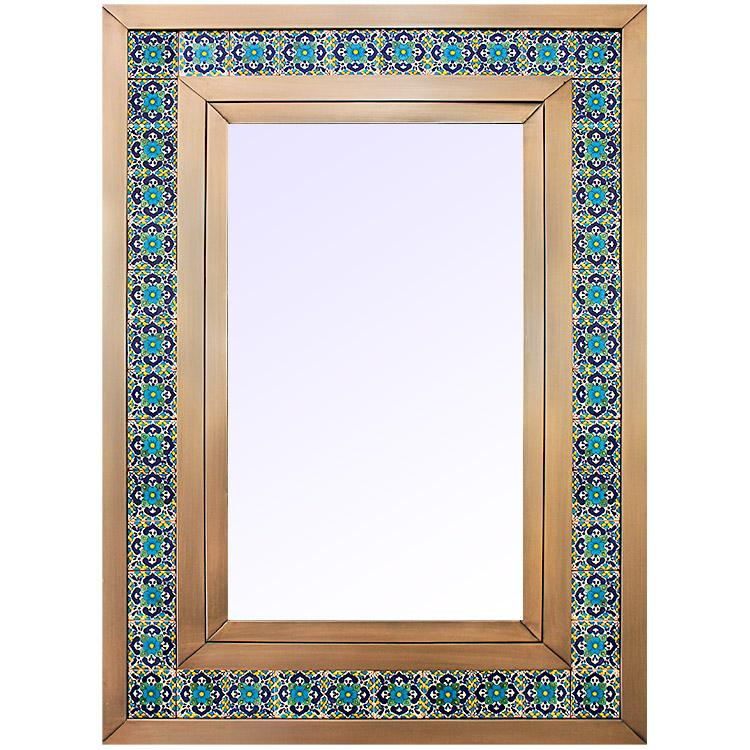 Medium Talavera Tile Mirror - Oxidized Finish