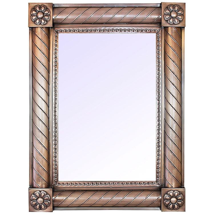 Large San Angeles Tin Mirror - Oxidized Finish