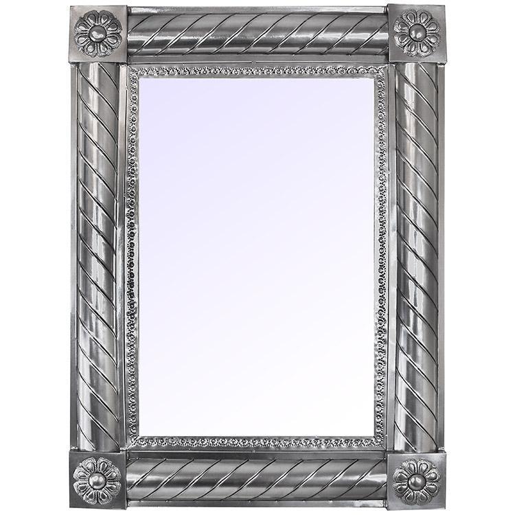 Large San Angeles Tin Mirror - Natural Finish
