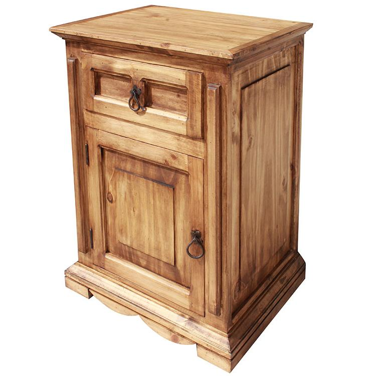 Rustic Pine Nightstand Door Opens Left Product Photo