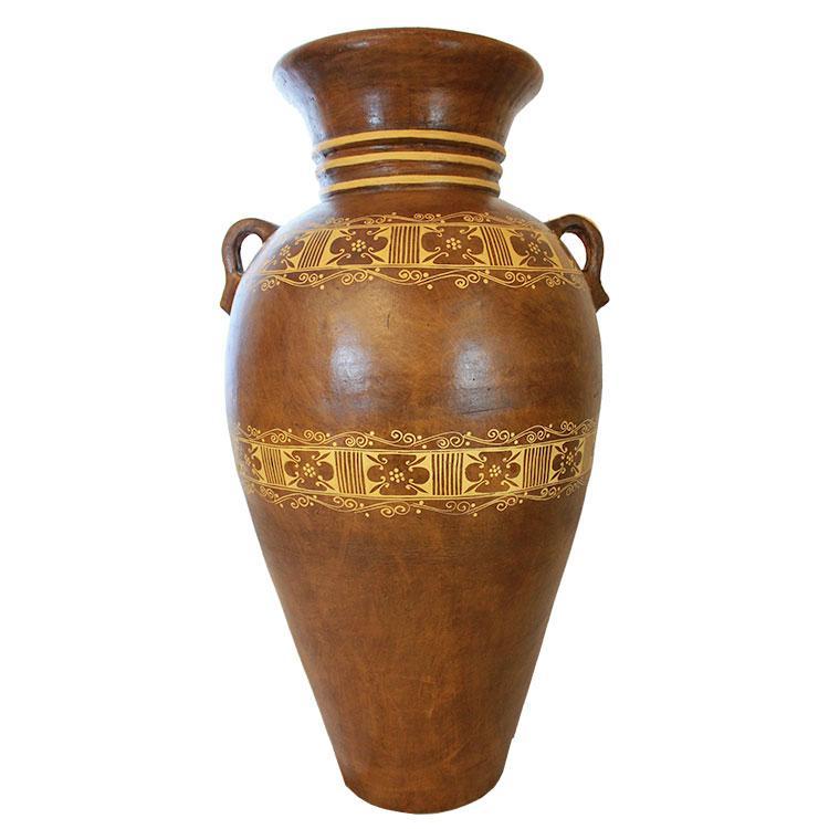 Four Foot Floor Vase: Greca Clasica