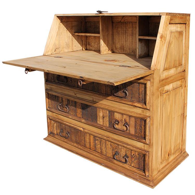 Rustic Pine Collection Fold Down Desk ESC01