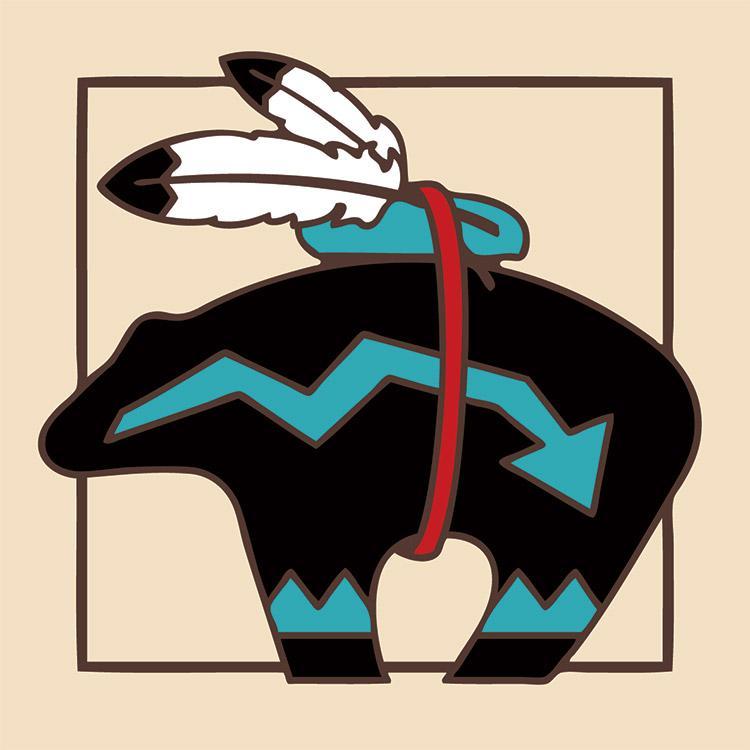 Southwest Bear Fetish Tile Coaster