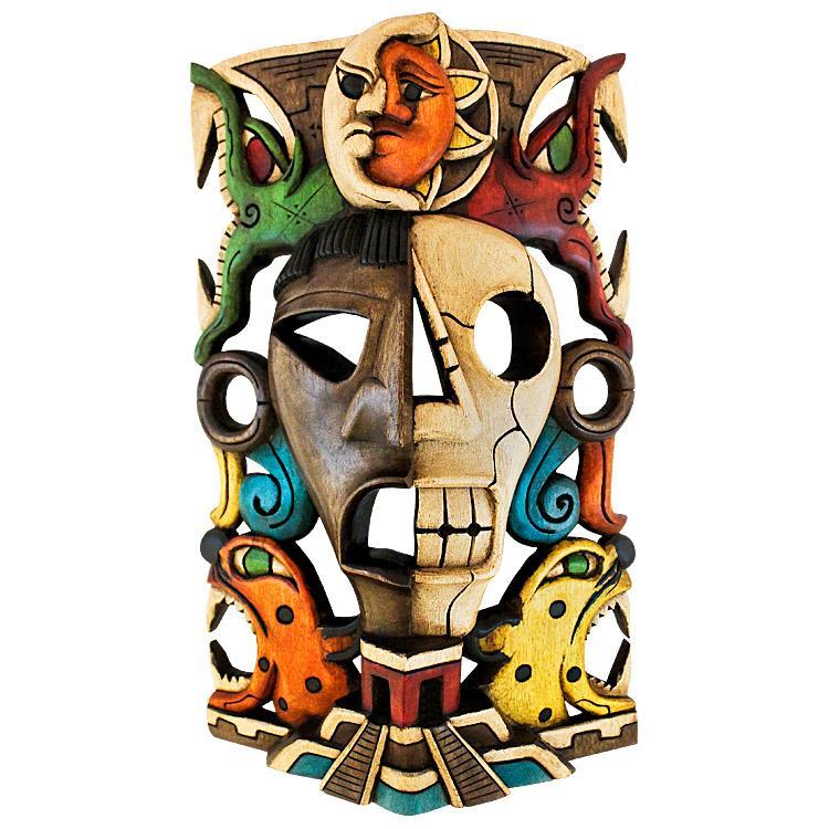 Carved Wooden Mask: Eclipse Headdress