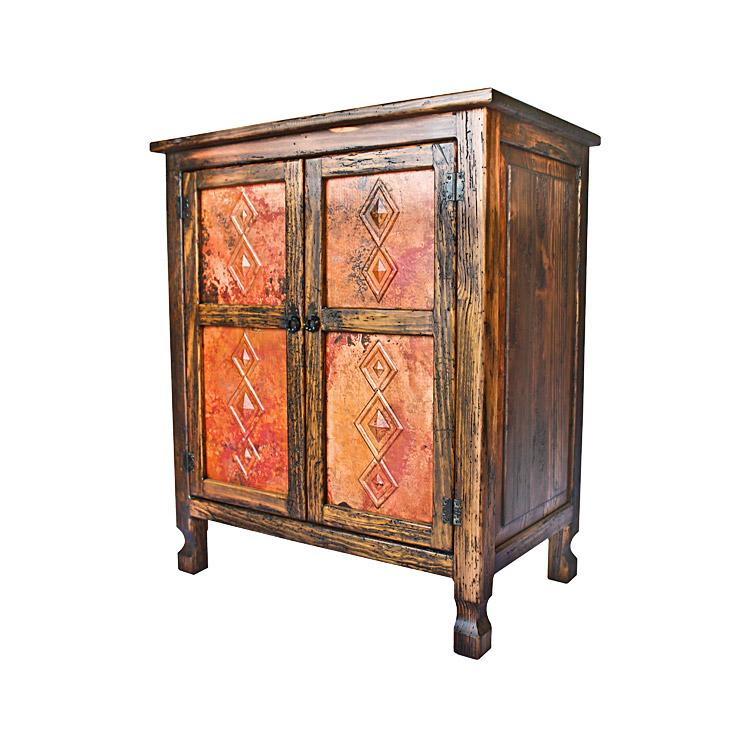 Isidro Cabinet Simple Panels Copper Top Product Photo