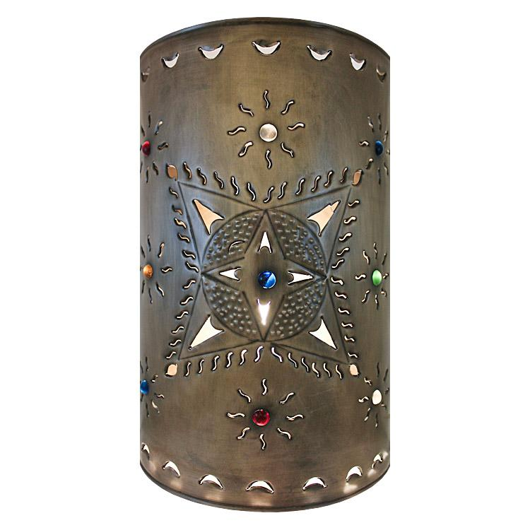 Large Mexican Tin Toluca Wall Sconce