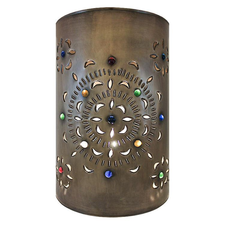 Large Mexican Tin Merida Wall Sconce