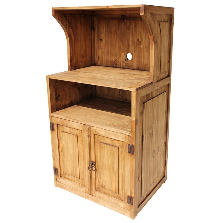 Rustic Pine Microwave Stand Product Photo