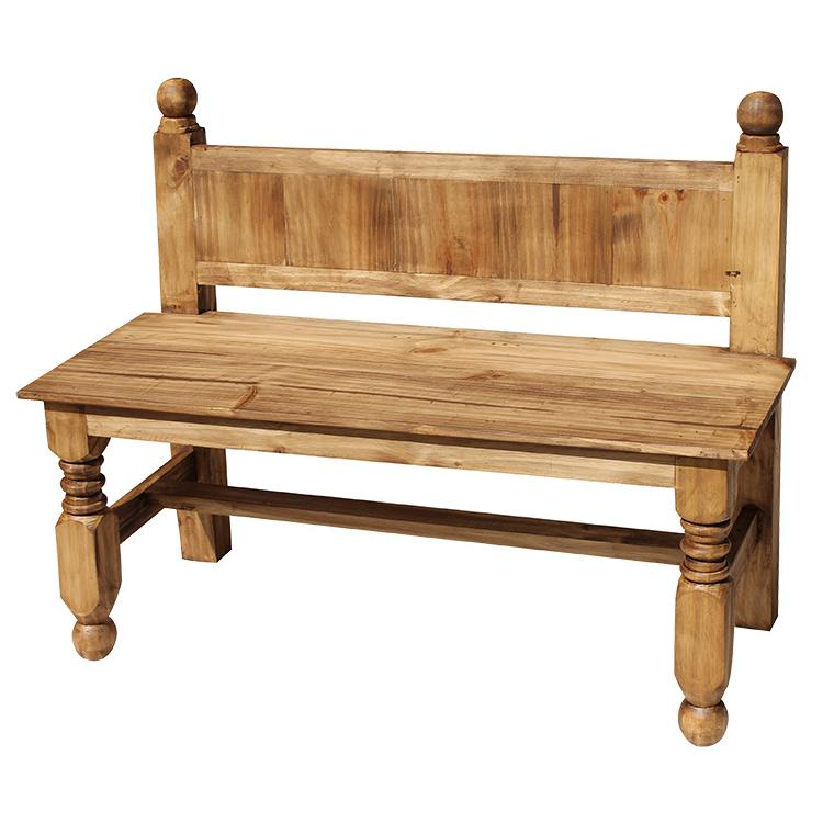 Rustic Pine Bench Product Photo