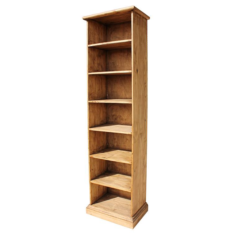 Rustic Pine Tall Multimedia Storage Shelf Product Photo