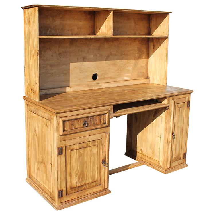 Rustic Pine Collection - Computer Desk w/Hutch - ESC19