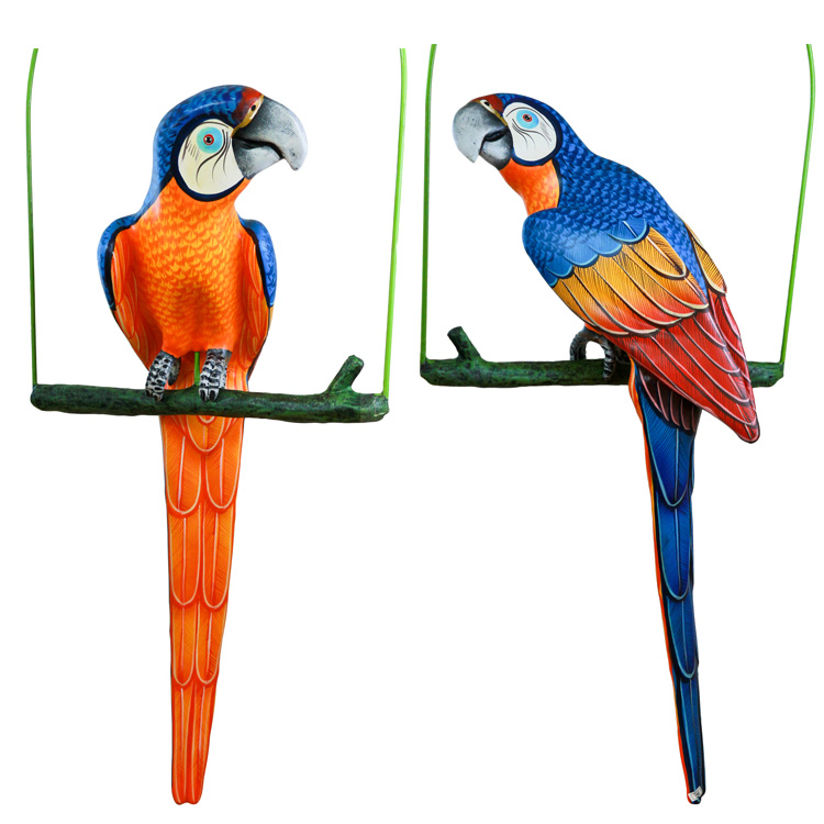 Paper Mache Blue Perch Product Photo