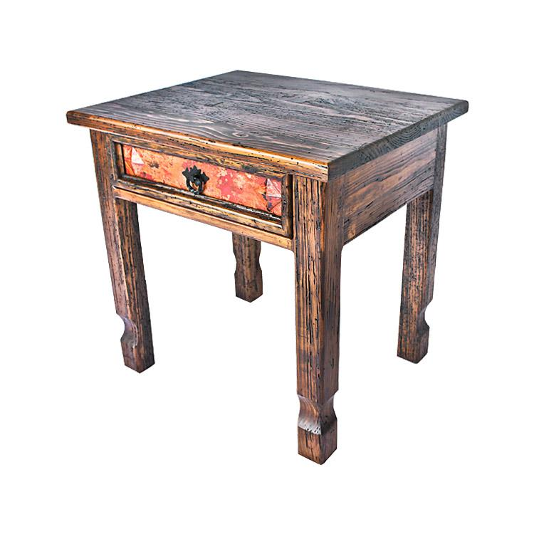 Small End Table Vine Panels Wooden Top Product Photo
