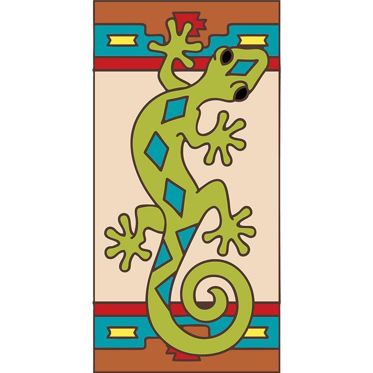 Left Side Border Tile:Green Gecko