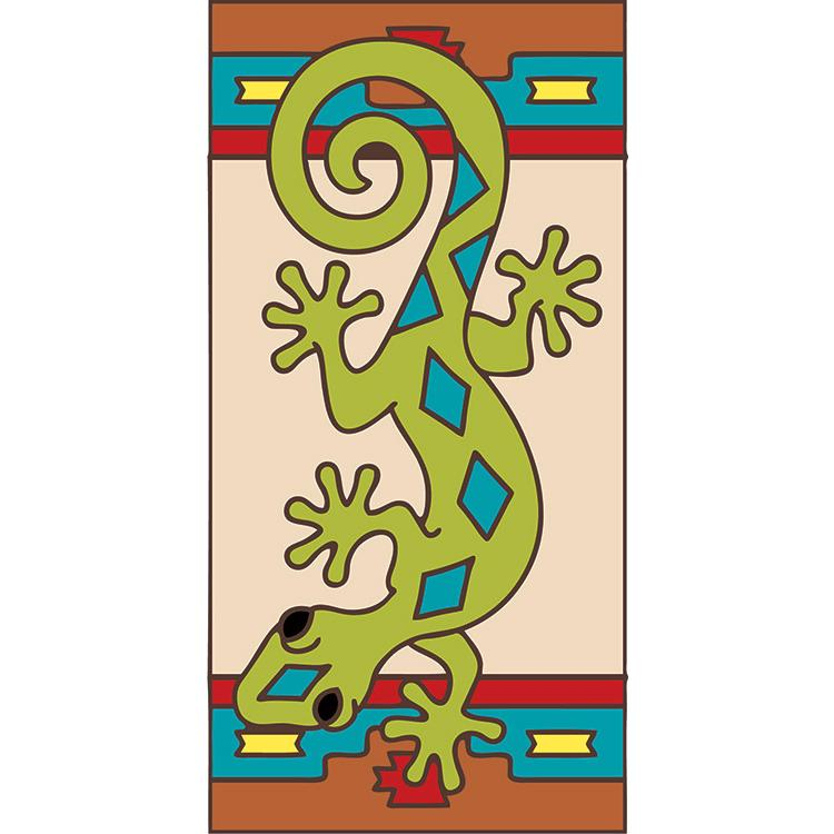 Right Side Border Tile:Green Gecko