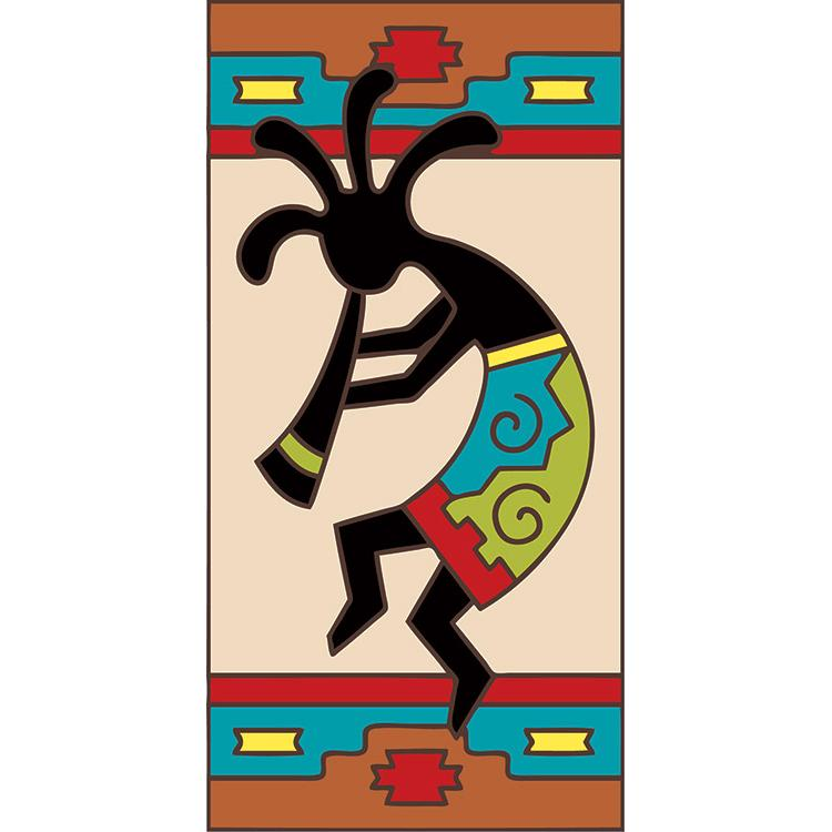 Right Side Border Tile:Dancing Kokopelli