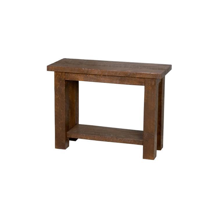 Sofa Table With Seating: Barnwood Sofa Table W/Shelf
