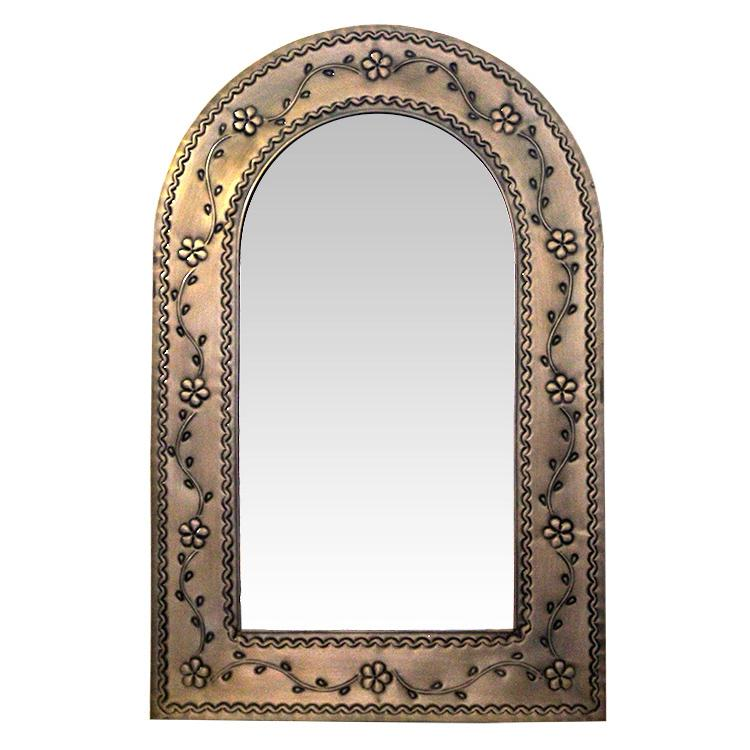 Arched Tin Mirror Oxidized Product Photo