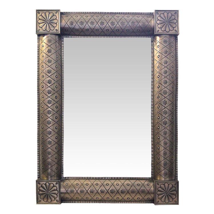 Medium San Miguel Tin Mirror - Oxidized Finish