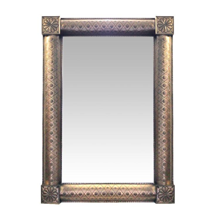 Tin Mirror Frame Oxidized Product Photo