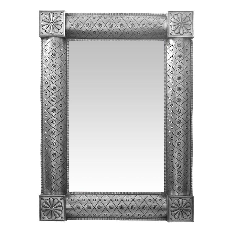 Medium San Miguel Tin Mirror - Natural Finish