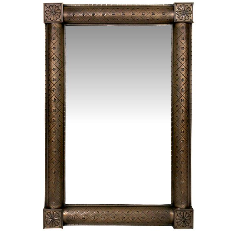 XL San Miguel Tin Mirror Frame - Oxidized Finish