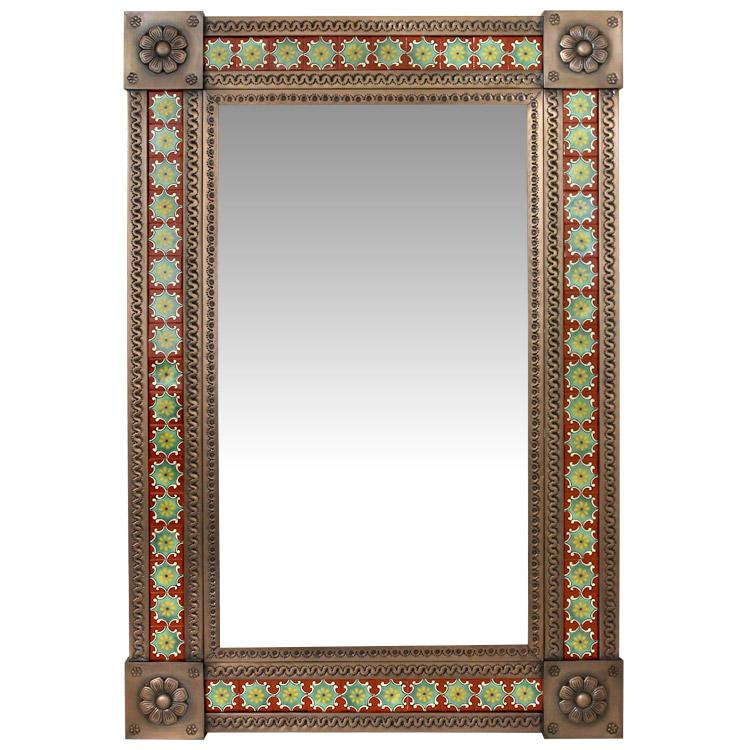 Tile Mirror Frame Oxidized Product Photo