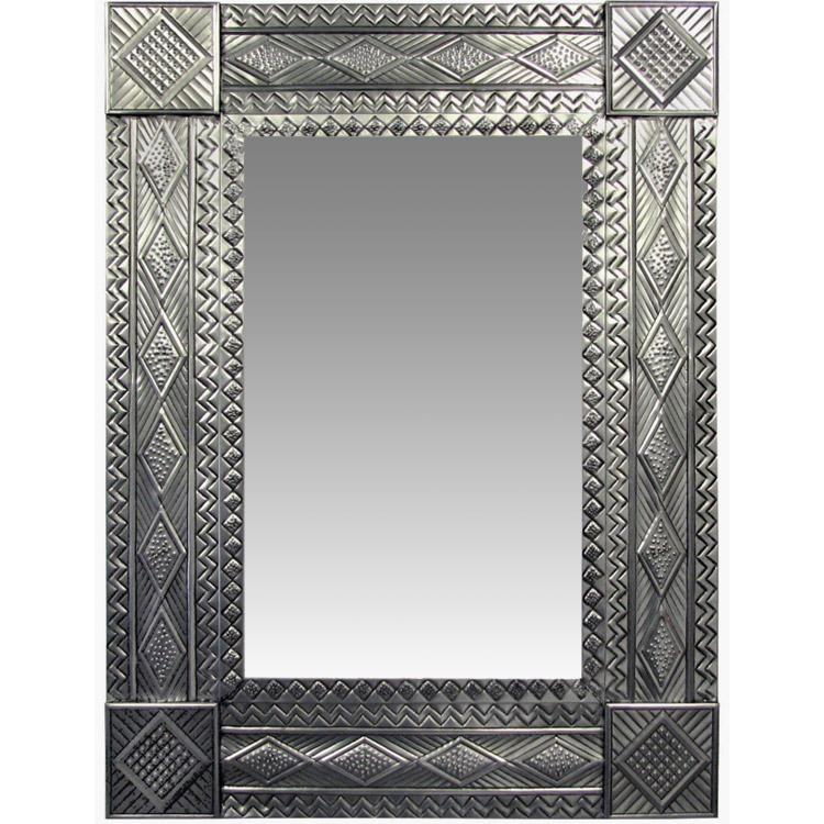 Diamond Tin Mirror - Natural Finish