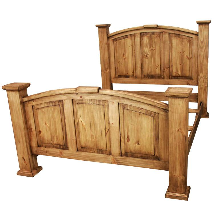 Rustic Pine Queen Bed Product Photo