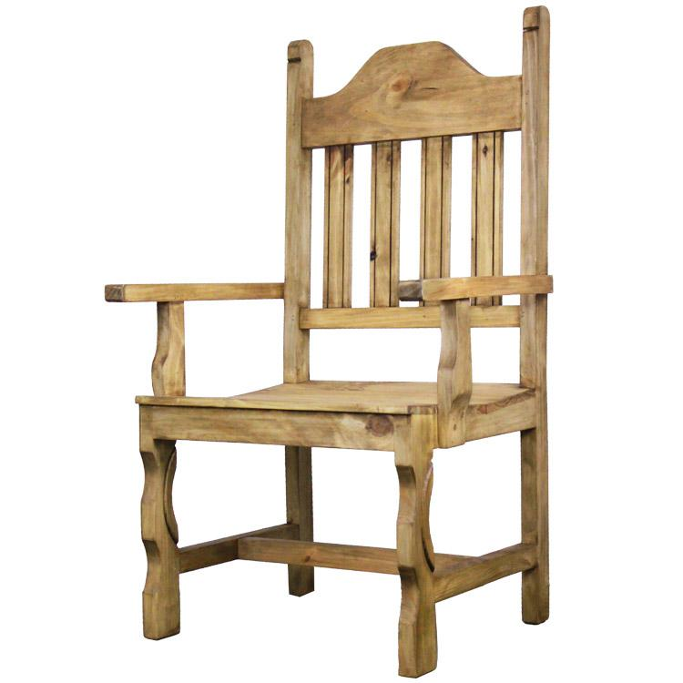 Rustic Pine Collection - Pueblo Arm Chair - SIL535