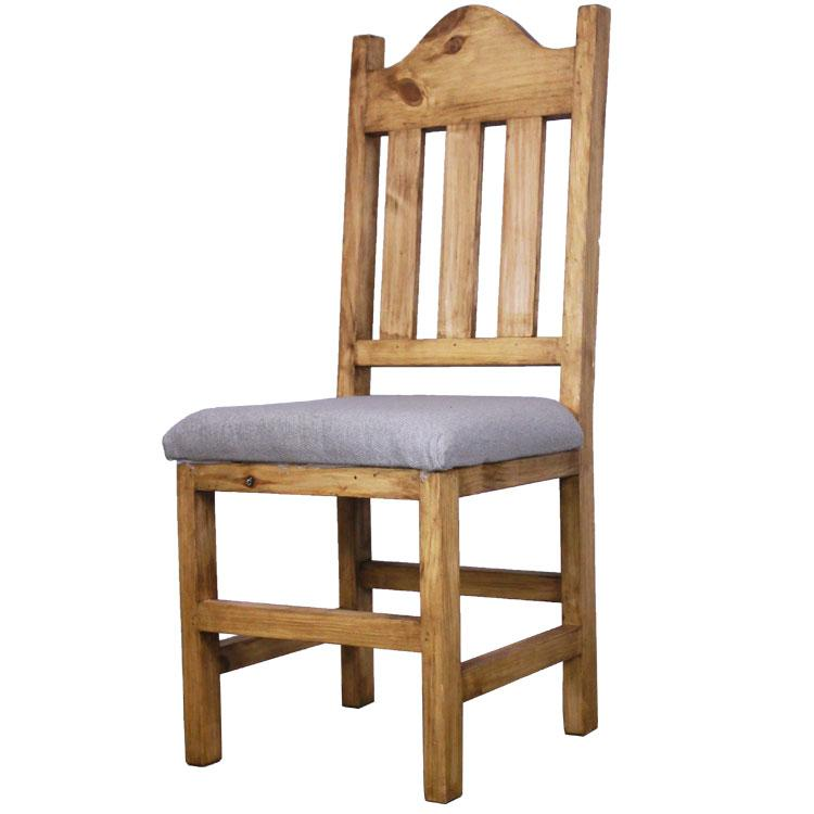 Mexican Rustic Pine Santana Chair with Cushion