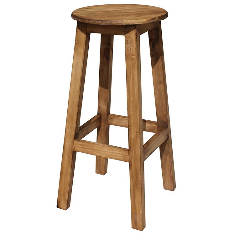 Rustic Pine Tall Bar Stool Product Photo