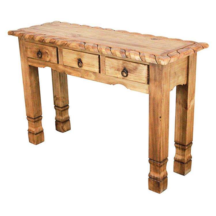 Mexican Rustic Pine Texana Console Table