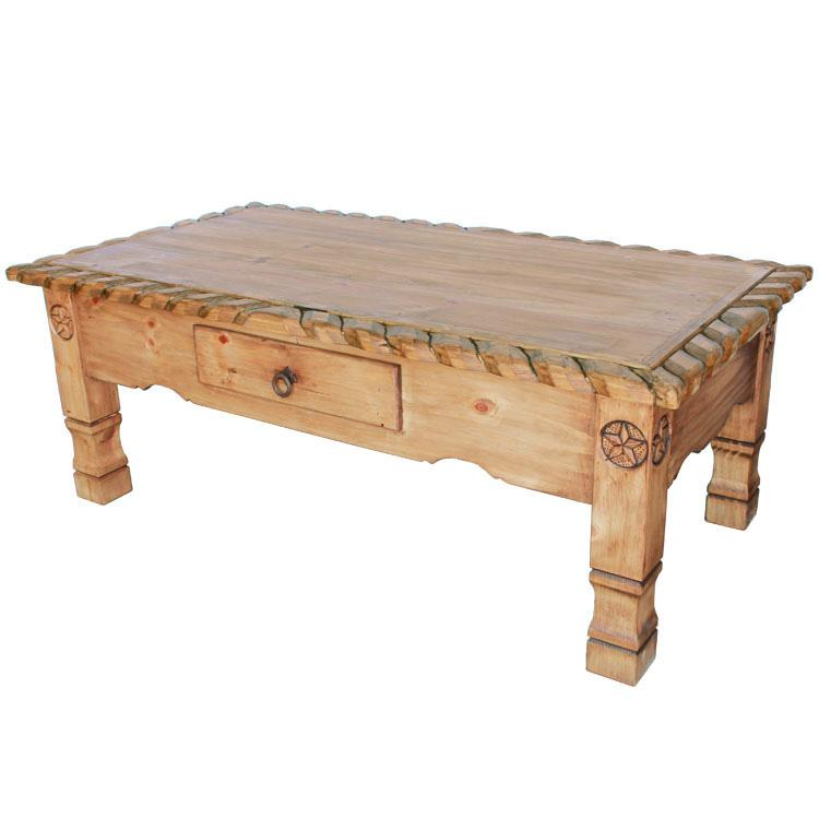 Mexican Rustic Pine Texana Star Coffee Table