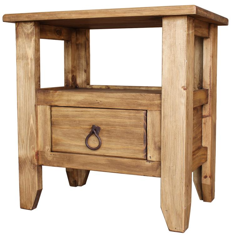 Mexican Rustic Pine San Marcos End Table