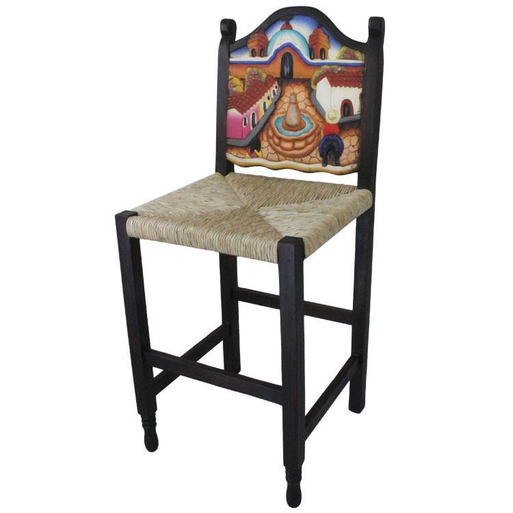Bar Stool Woven Seat Product Photo