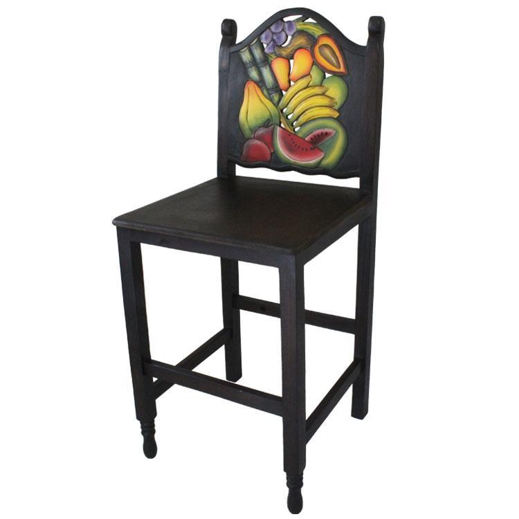 Fruit Bar Stool Wooden Seat Product Photo