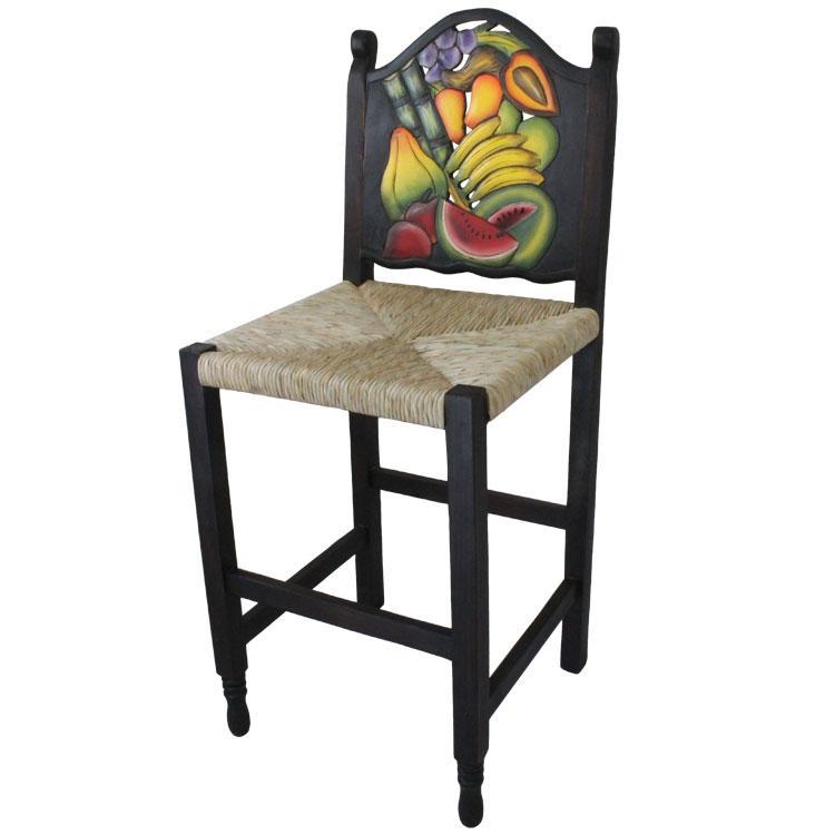 Fruit Bar Stool Woven Seat Product Photo