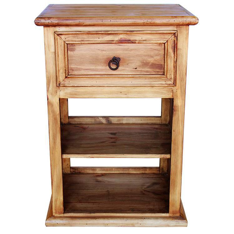 Rustic Pine Nightstand Product Photo