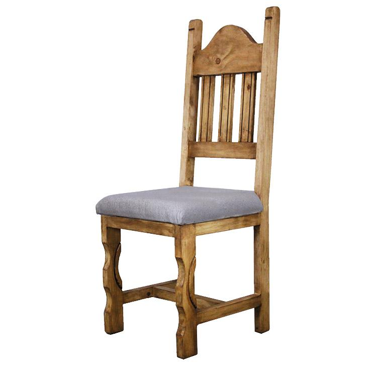 Mexican Rustic Pine Pueblo Chair with Cushion