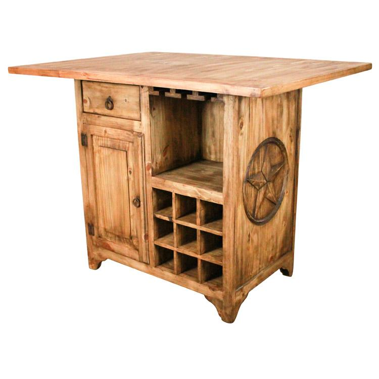 Rustic Pine Kitchen Island Product Photo