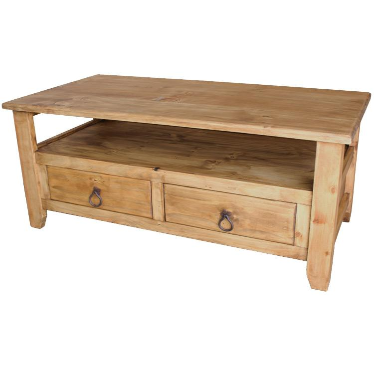 Mexican Rustic Pine San Marcos Coffee Table